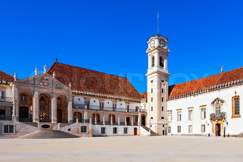Stock image of 'The University of Coimbra in Coimbra, Portugal'