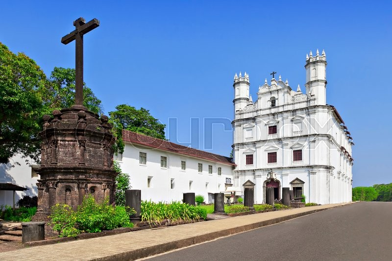 Stock image of 'Church of St. Francis of Assisi, old Goa, India'