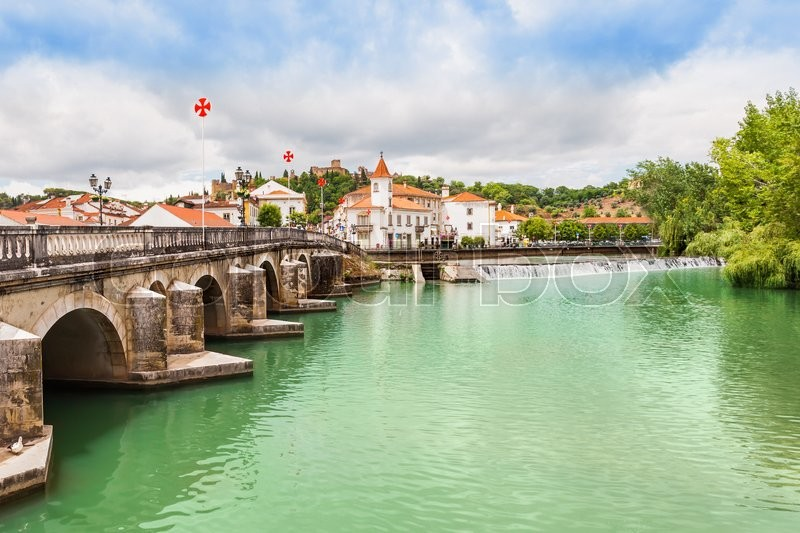 Stock image of 'Tomar city center, Santarem District in Portugal'
