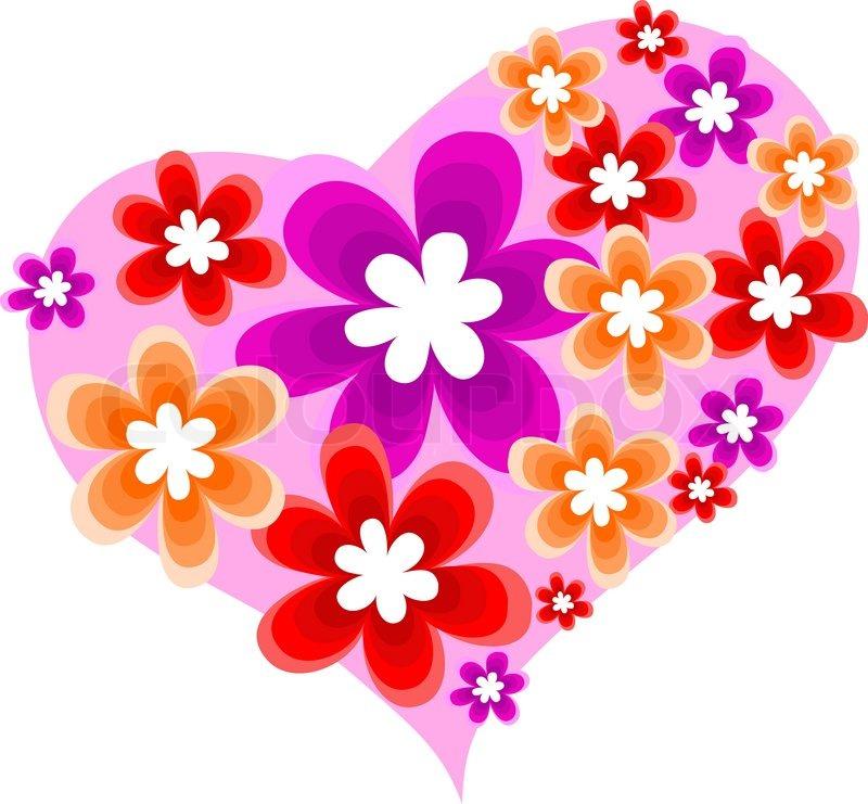 heart in flower - photo #49
