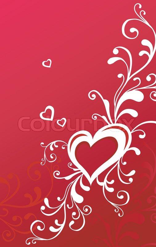 Creative illustration valentine greeting card love concept in red creative illustration valentine greeting card love concept in red stock vector colourbox m4hsunfo