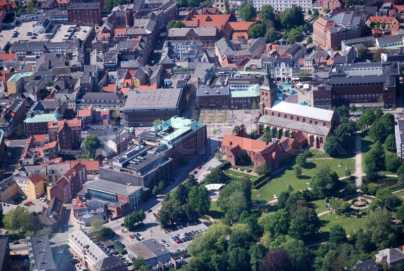 Stock image of 'fyn, odense, aerial'