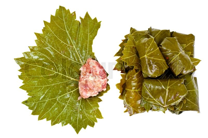 Stock image of 'Dolma from Grape Leaves with a Minced Studio Photo'