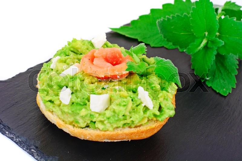 Stock image of 'Sandwiches with Avocado and Salmon Studio Photo'
