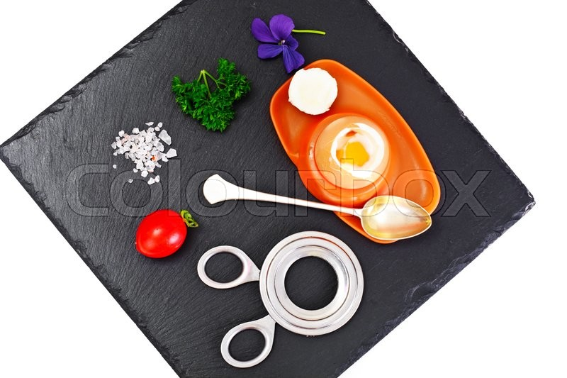 Stock image of 'Boiled Egg Cooked Studio Photo'