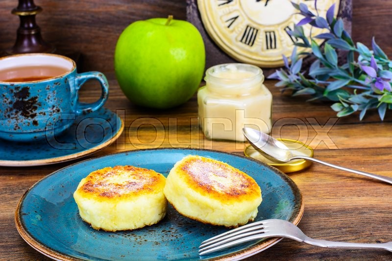 Stock image of 'Sweet Cheese Fritters Studio Photo'