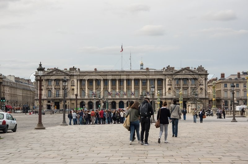 Editorial image of 'PARIS, FRANCE - MAY 07, 2015: View on Place de la Concorde in the dusk, Paris, France'