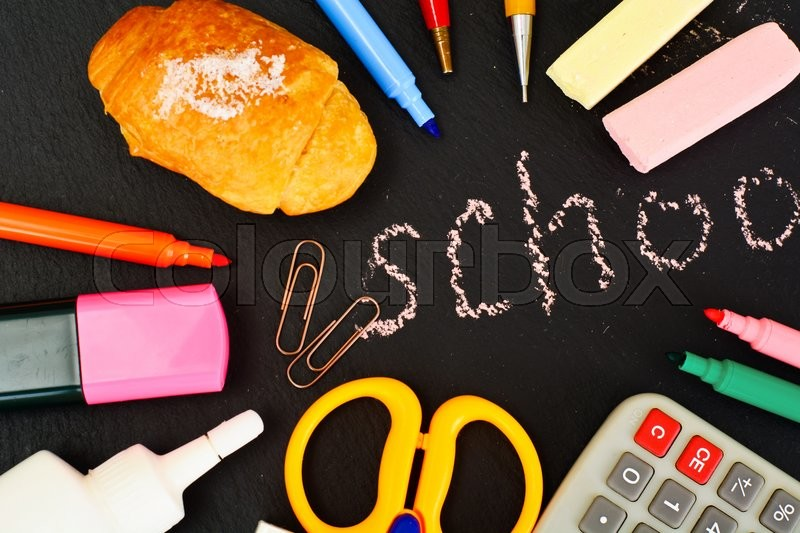 Stock image of 'Back to School Concept on Dark Studio Photo'