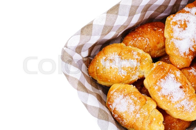 Stock image of 'Delicious Crispy French Croissants on Plate Studio Photo'
