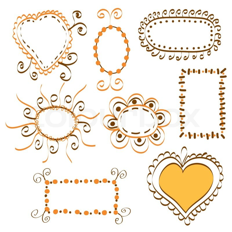 collection of cute bright banners stock vector colourbox