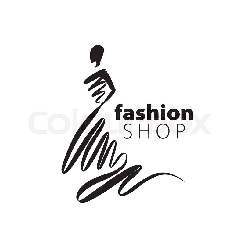 Vector Logo For Womens Fashion Illustration Of Girl Stock Vector Colourbox