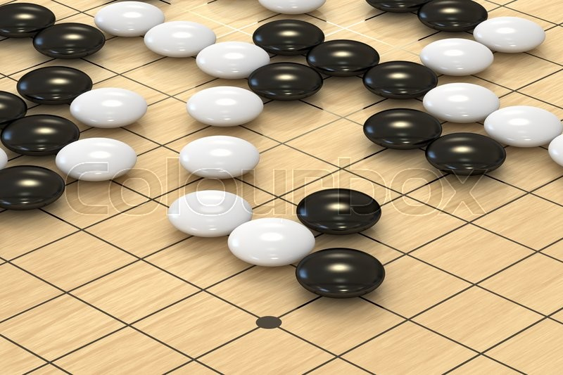 Stock image of 'Go game closeup, 3D rendering '