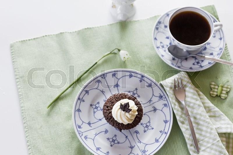 Stock image of 'kaffee, and, muffin'