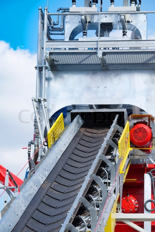 Stock image of 'Conveyor of a cement factory'