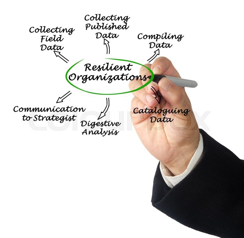 Diagram of Resilient Organizations, stock photo