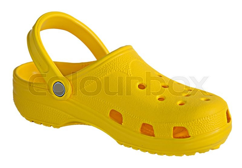 Stock image of 'Close up of yellow shoe'
