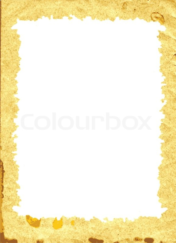 decorative frame from old paper vector