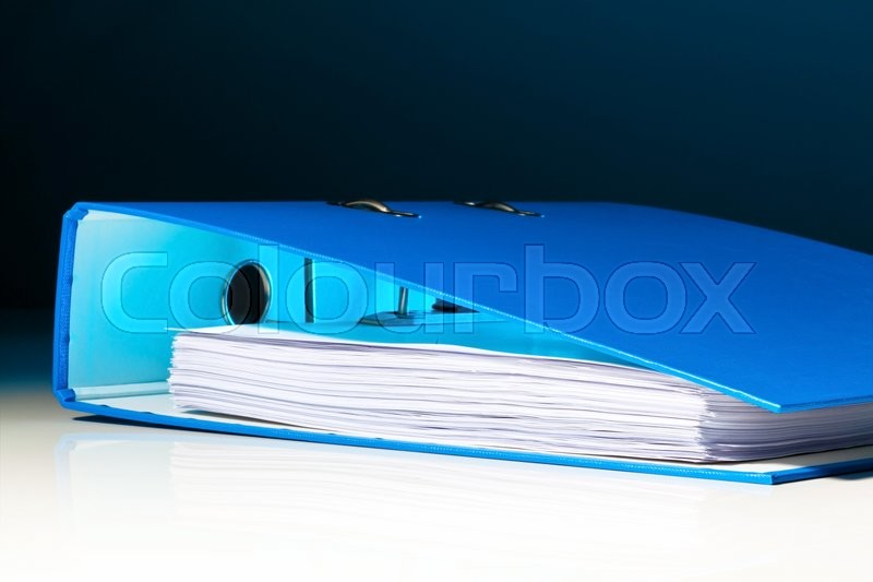 Stock image of 'file folder with documents and documents. retention of contracts.'