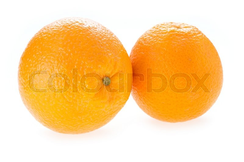 Stock image of 'Orange fruit isolated on white background'