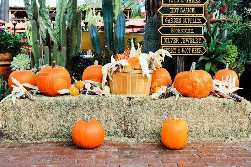 Stock image of 'Fall decorations at the Old Town in San Diego, California'