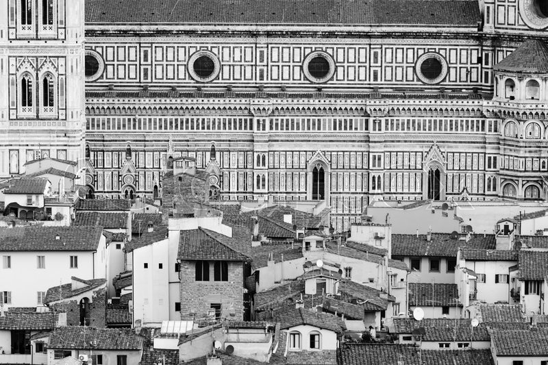 Stock image of 'Detail of some buildings in the center of florence'