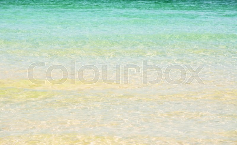 Stock image of 'Detail of the criystal sea water of the main beach in Boracay , Philippines'
