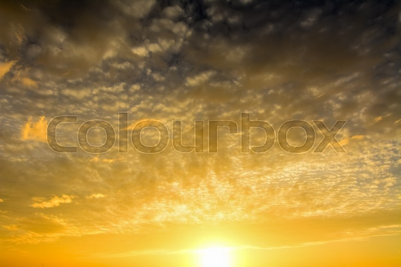 Stock image of 'Sky with clouds at sunset in Boracay island, Philippines'