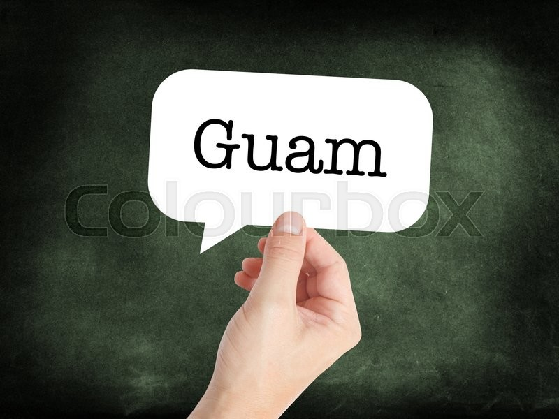 Stock image of 'Guam concept in a speech bubble'