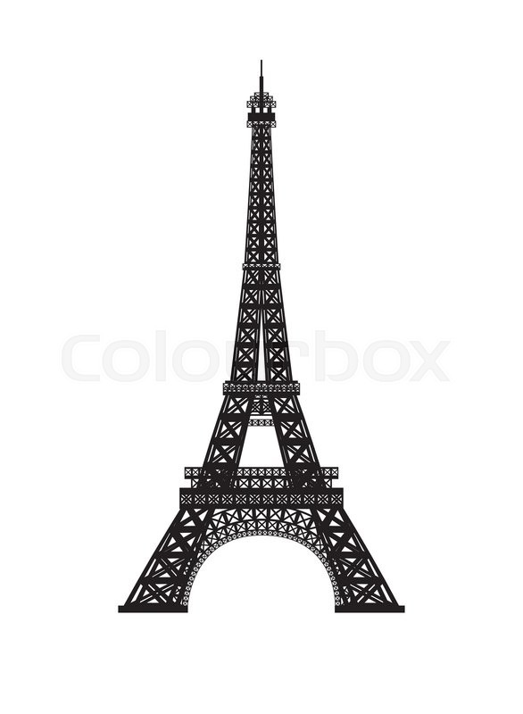 eiffel tower isolated on white background linear graphic stroke rh colourbox com eiffel tower vector free download eiffel tower vector art cnc laser file