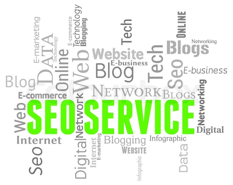 Stock image of 'Seo Service Indicates Search Engines And Assistance'