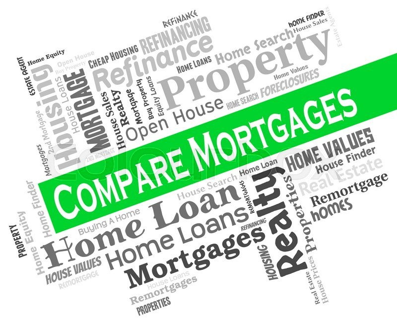 Stock image of 'Compare Mortgages Indicating Home Loan And Homes'