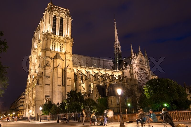 Stock image of 'Notre-Dame de Paris (French for \
