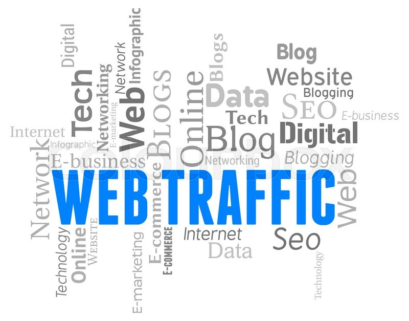 Stock image of 'Web Traffic Represents Wordclouds Customers And Websites'