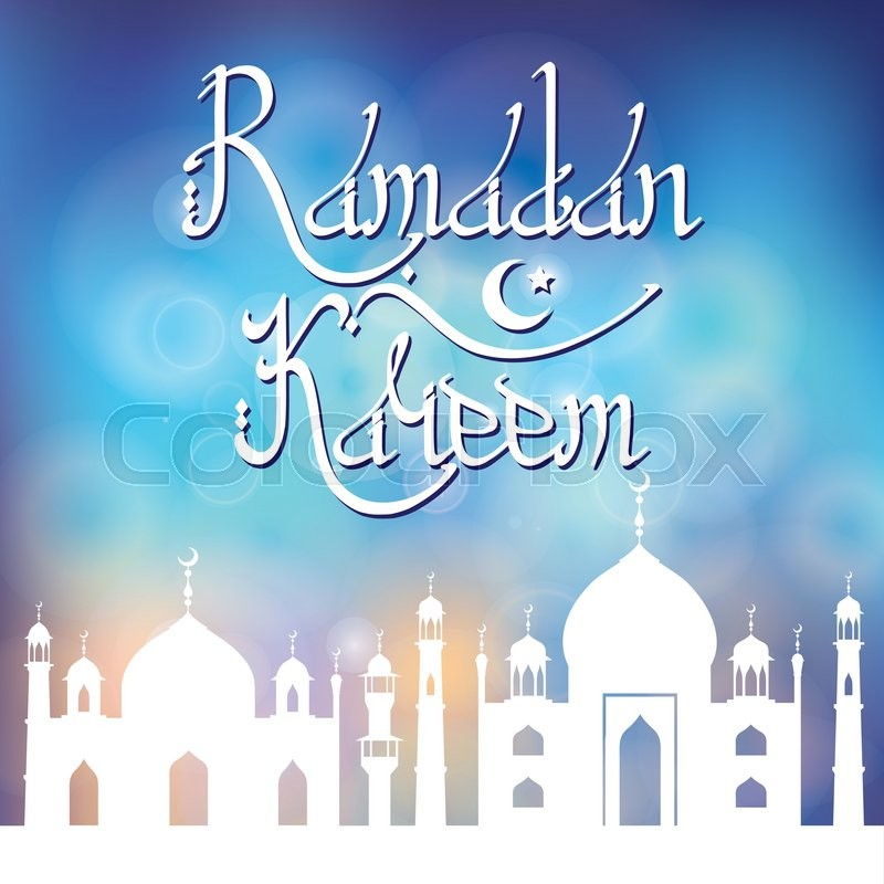 Ramadan kareem ramadan greeting card with mosqueminaretctor ramadan greeting card with mosqueminaretctor islamic letteringabic motifgeometrical ornamentslim vintage wallpaperreligious holiday design m4hsunfo