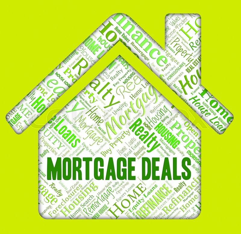 Stock image of 'Mortgage Deals Representing Real Estate And Homes'