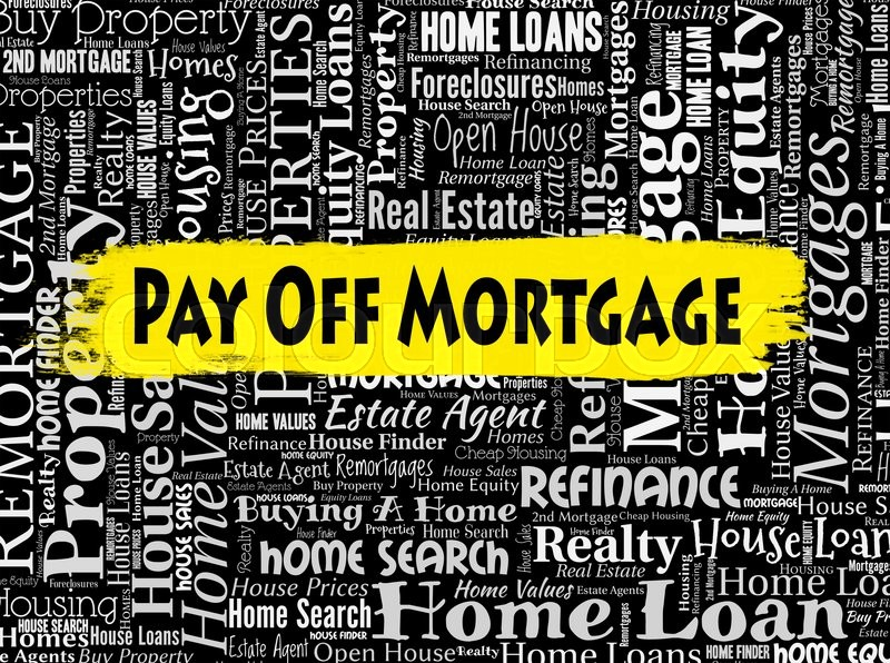 Stock image of 'Pay Off Mortgage Indicating Full Payment And Purchasing'