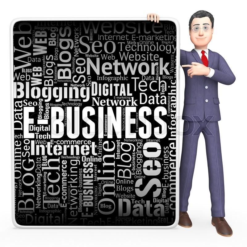 Stock image of 'Ebusiness Sign Indicates Corporate Signs And Website'