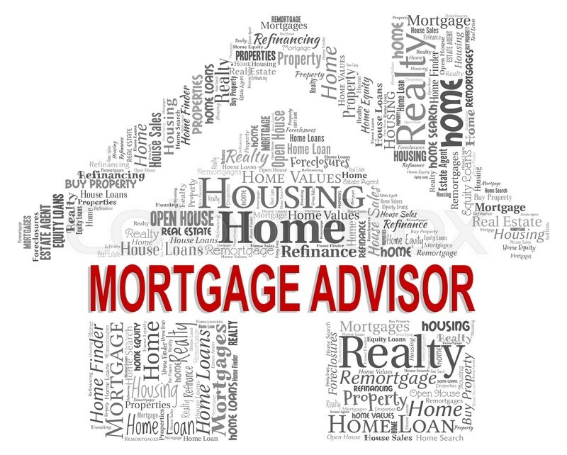 Stock image of 'Mortgage Advisor Indicating Real Estate And Ownership'