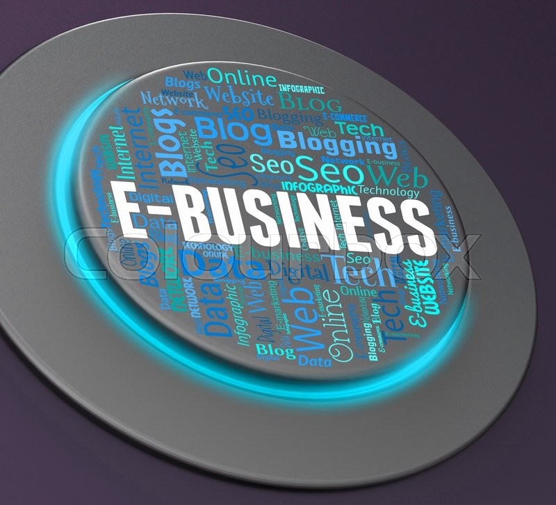 Stock image of 'Ebusiness Button Representing Web Site And Corporation'