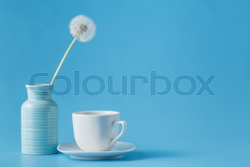 Stock image of 'Still life with a white tea cup'