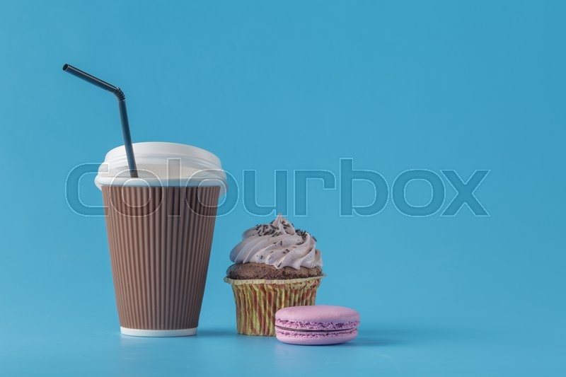 Stock image of 'Coffee with cake served with sweets'