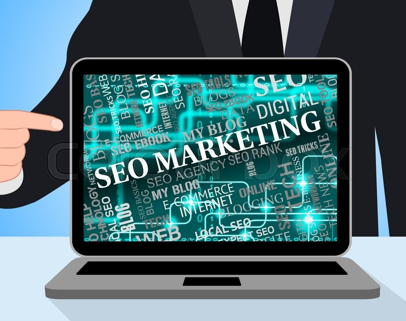 Stock image of 'Seo Marketing Indicates Search Engines And Advertising'
