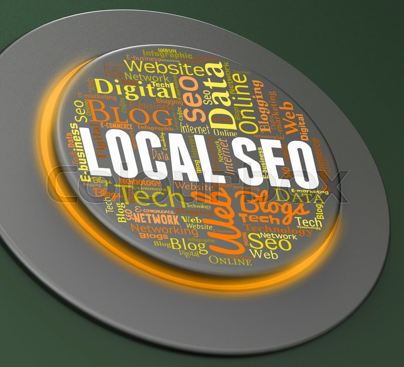 Stock image of 'Local Seo Indicating Search Engine And Internet'