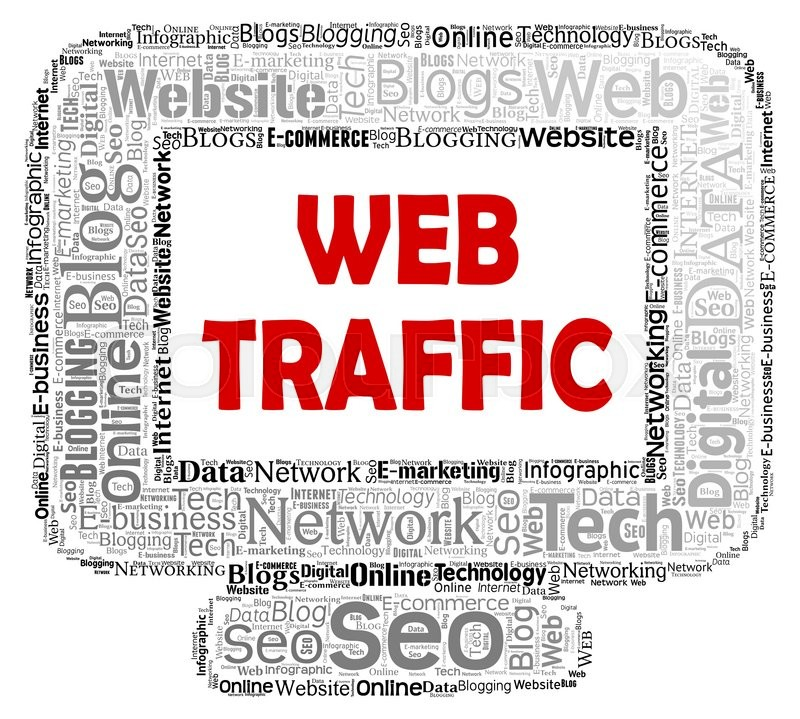 Stock image of 'Web Traffic Represents Www Computer And Customer'