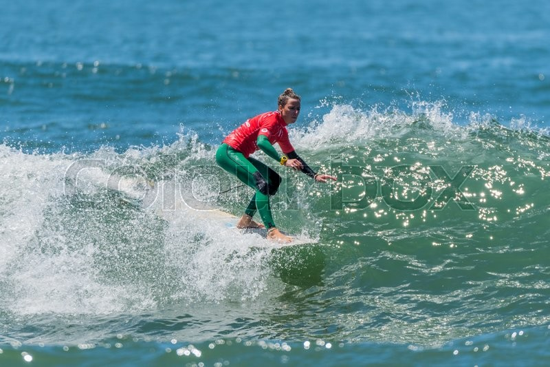 Editorial image of 'GAIA, PORTUGAL - JUNE 11: Francesca Rubegni (ITA) at LQS Longboard Pro Gaia Women's Longboard Tour #3.'