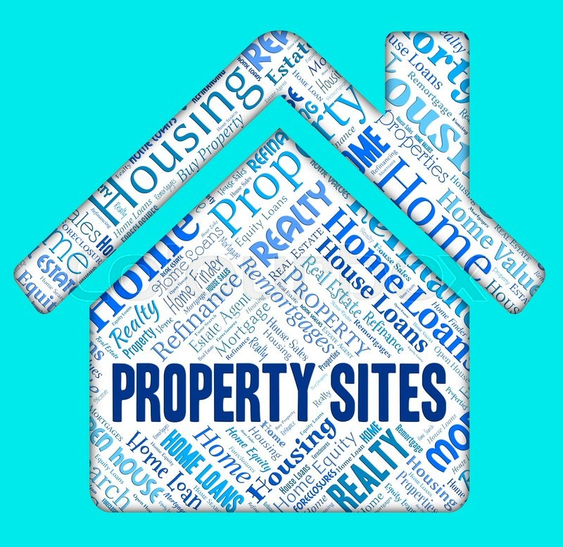 Stock image of 'Property Sites Shows Housing Internet And Homes'