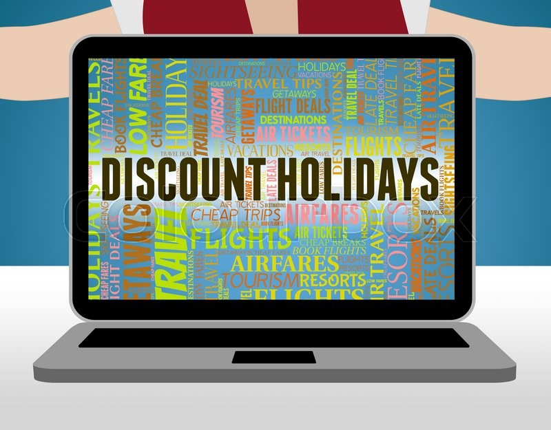 Stock image of 'Discount Holidays Represents Clearance Vacations And Savings'