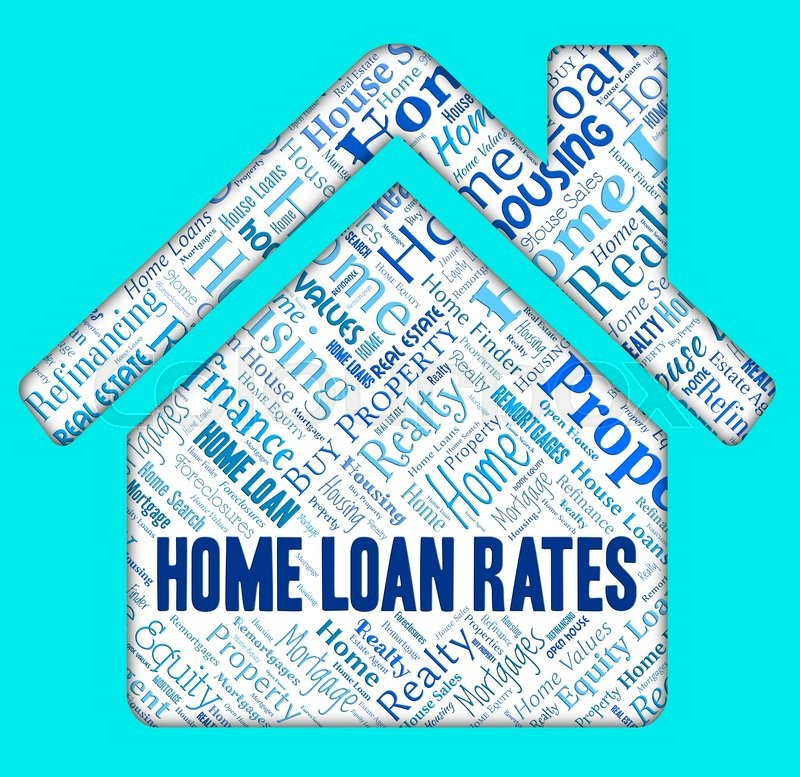 Stock image of 'Home Loan Rates Showing Lends Borrower And Loaning'