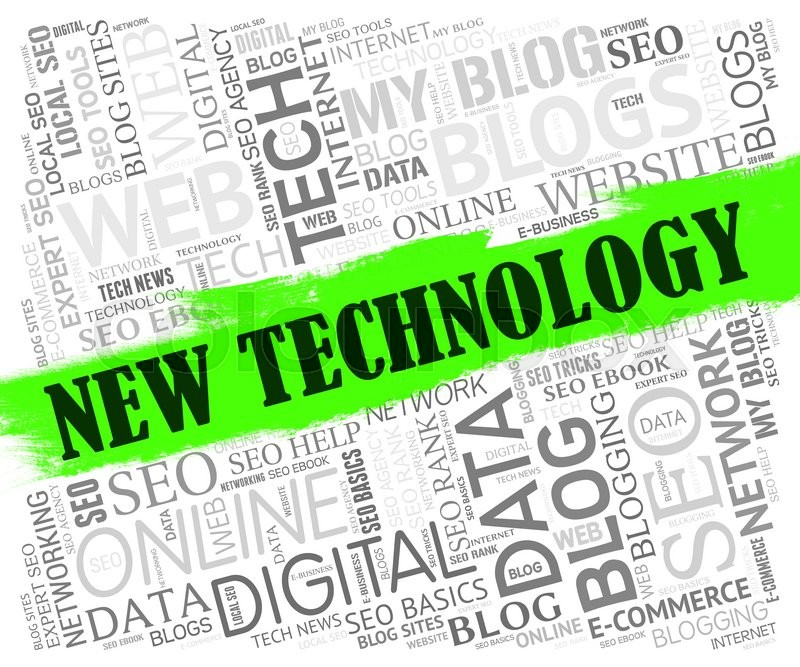 Stock image of 'New Technology Meaning Technologies Updates And High-Tech'