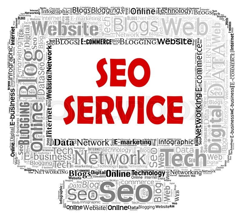 Stock image of 'Seo Service Shows Search Engine And Business'